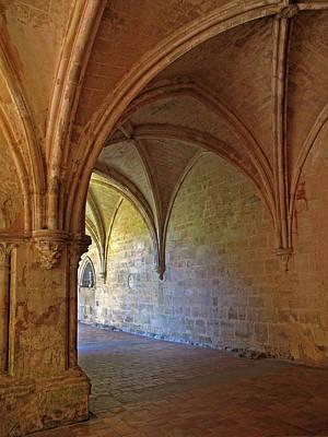 Inside A Monastery Dordogne France  Art Print by Dave Mills