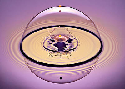 High Speed Photograph - Inside A Saturn Bubble by Susan Candelario