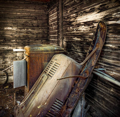 Photograph - Inside Barn by Wayne Sherriff