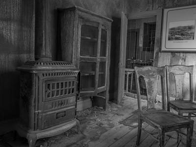 Antique Wood Burning Stove Photograph - Inside Bodie by Michele  James