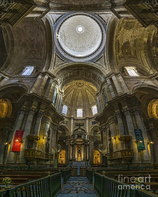 Photograph - Inside Cadiz Cathedral Cadiz Spain by Pablo Avanzini