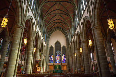 Photograph - Inside Christchurch Cathedral by Keith Boone