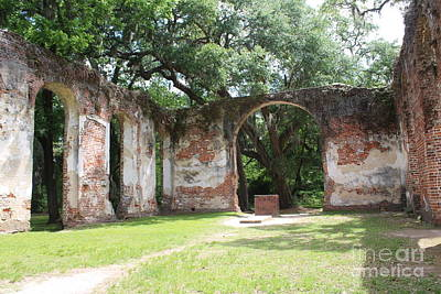 Civil War Site Photograph - Inside Church Ruins by Carol Groenen
