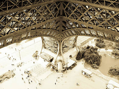 Inside Eiffel Art Print by Patrick Rabbat