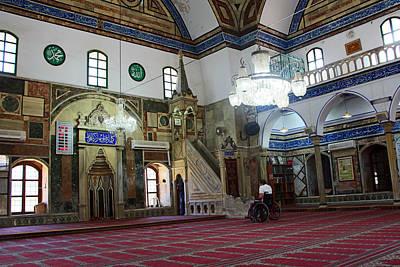 Photograph - Inside El-jazzar Mosque by Munir Alawi