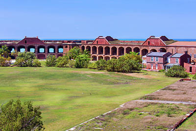 Photograph - Inside Fort Jefferson by John M Bailey
