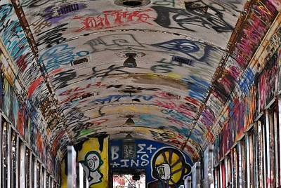 Photograph - Inside Graffiti Train by Val Arie