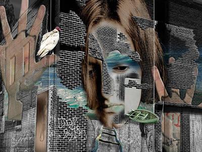 Shower Head Digital Art - Inside Her Mind by Ann Willmore