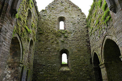 Photograph - Inside Jerpoint Abbey Irish Medieval 12th Century Ruins County Kilkenny Ireland by Shawn O'Brien