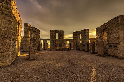 Photograph - Inside Maryhill Stonehenge by Mark Kiver