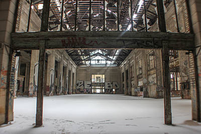 Detroit Abandoned Buildings Photograph - Inside Michigan Central Station by John McGraw