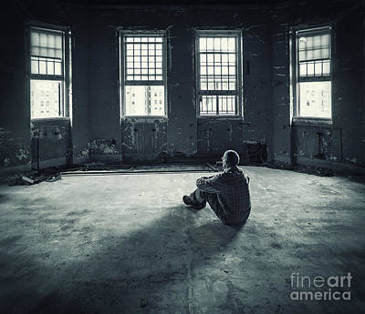 Asylum Photograph - Inside My Darkness by Evelina Kremsdorf