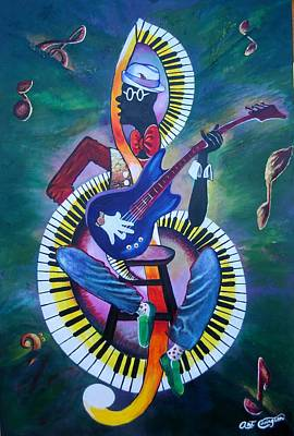 Inside My Music II Art Print by Arthur Covington
