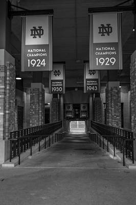 Photograph - Inside Notre Dame Football Stadium   by John McGraw