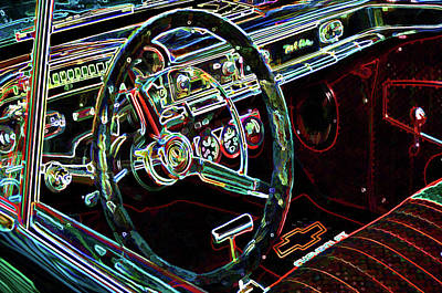 Sportscar Painting - Inside Of A Classic Car by Lanjee Chee