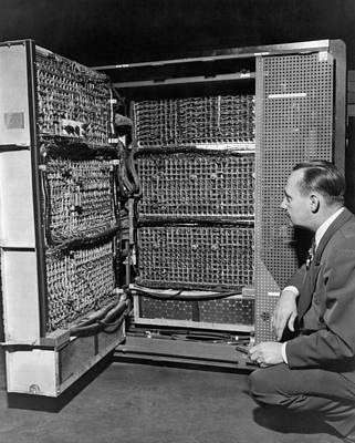 Inside Of A Mainframe Computer Art Print