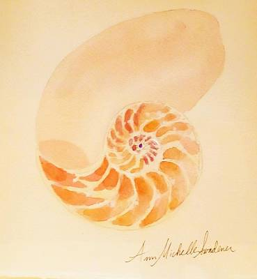 Painting - Inside Of A Nautilus by Ann Michelle Swadener