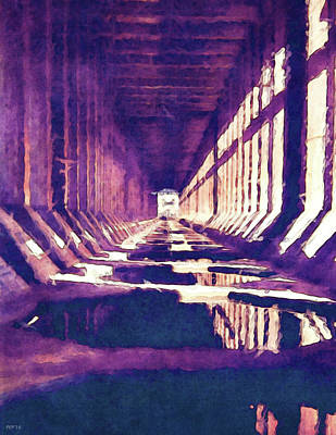 Marquette Digital Art - Inside Of An Iron Ore Dock by Phil Perkins