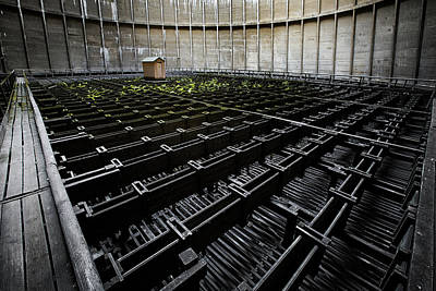 Art Print featuring the photograph Inside Of Cooling Tower - Industrial Decay by Dirk Ercken