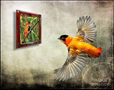 Inside Out. Red Bishop Art Print by Jennie Breeze