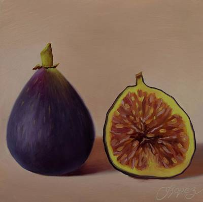 Painting - Inside Out, Walter's Figs by Gema Lopez
