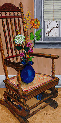 Chair Painting - Inside Outside by Rich Travis