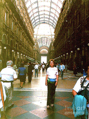 Photograph - Inside Piazza Mercanti In Milan, Italy by Merton Allen