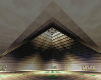 Screenshot Digital Art - Inside Pyramid Grand Room No. 3 by Stephanie Brock
