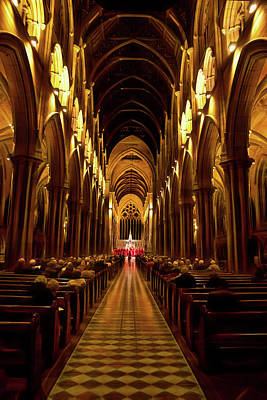 Photograph - Inside St Mary's Cathedral by Miroslava Jurcik