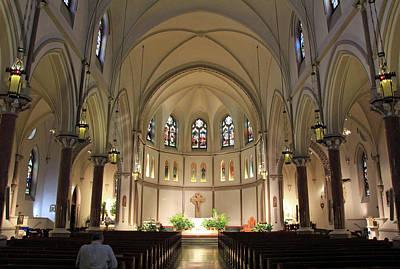 Photograph - Inside St. Patrick's Parish by Cora Wandel
