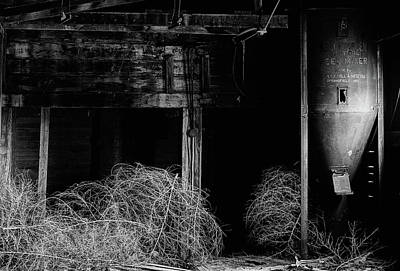 Photograph - Inside The Abandoned Mill Black And White by JC Findley