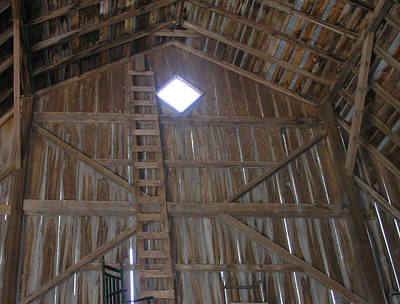 Inside The Barn Art Print by Janis Beauchamp