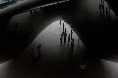 Photograph - Inside The Bean by David Coblitz