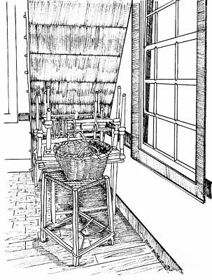 Inside The Bookbinder's Shop Art Print