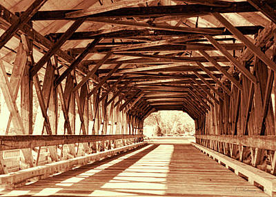 Photograph - Inside The Covered Bridge by Natalie Rotman Cote