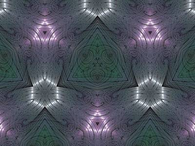 Inside The Crystal Art Print by Ricky Kendall