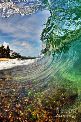 Seascape Photograph - Inside The Curl by Paul Topp