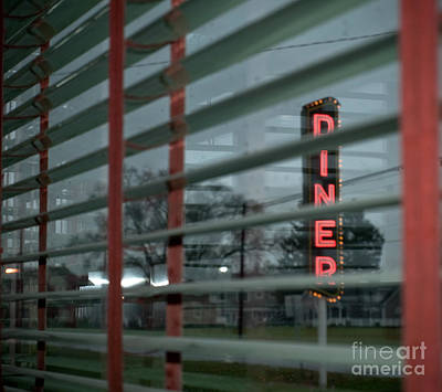 Inside The Diner Art Print by Kathy Jennings