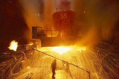 Inside The East-slovakian Steel Mill Print by James L. Stanfield