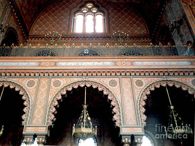 Photograph - Inside The Florence Italy Synagogue by Merton Allen