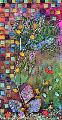 Mixed Media - Inside The Garden Wall by Donna Blackhall
