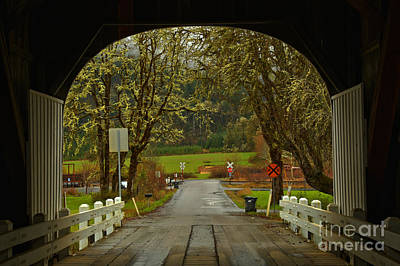 Photograph - Inside The Harris Covered Bridge by Adam Jewell