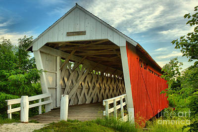 Photograph - Inside The Imes Covered Bridge by Adam Jewell