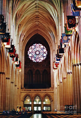Photograph - Inside The National Cathedral by D Hackett