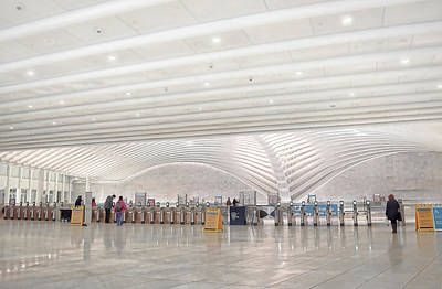 Photograph - Inside The Oculus - New York City's Financial District by Dyle Warren