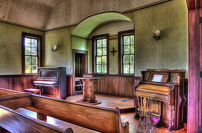 Inside The Oysterville Church  Art Print