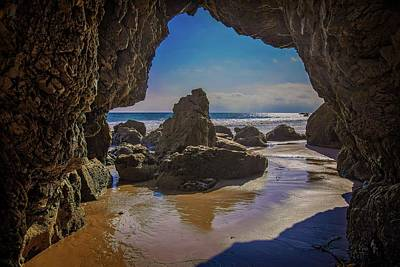 Photograph - Inside The Rock Cave by Lynn Bauer