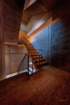 Photograph -  Inside The Stairwell by Tim Bryan