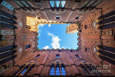 Tuscan Hills Photograph - Inside The Tower by Inge Johnsson