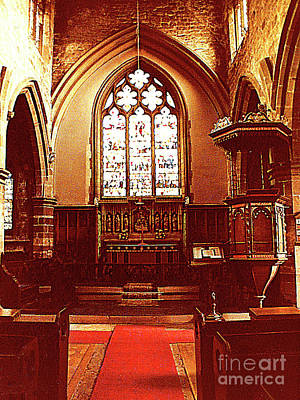 Photograph - Inside The York Minister - York, England by Merton Allen